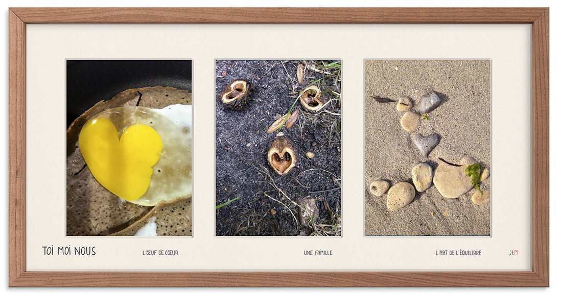 Les compositions de photos des coeurs du hasard