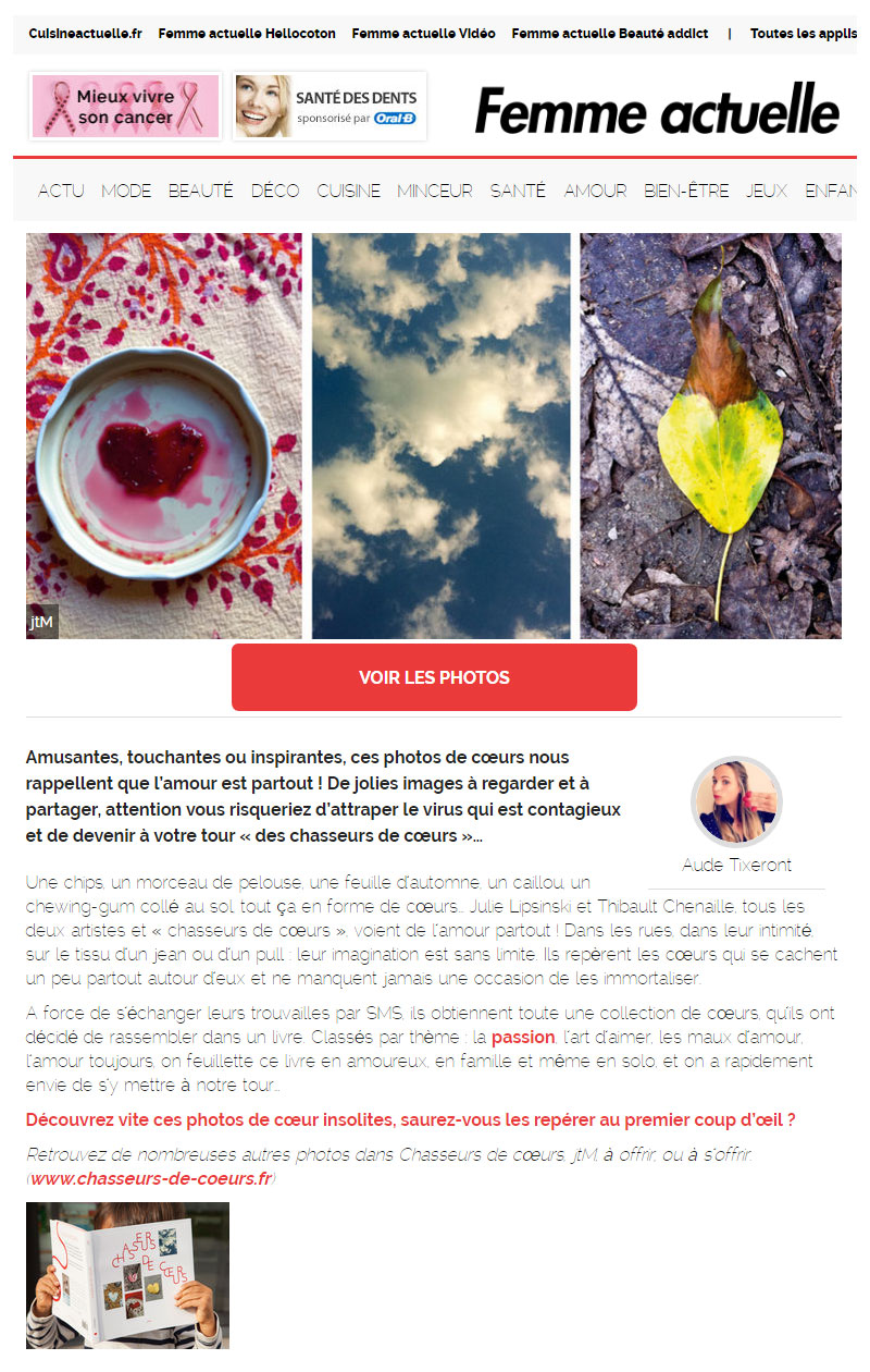 Femme actuelle - le 24 octobre 2016 - Chasseurs de cœurs